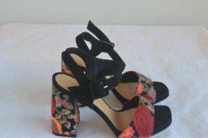 Alisha High Heel Sandal black-dark red leather