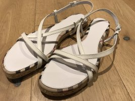 Burberry Strapped Sandals white