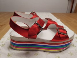 Hogan Platform Sandals multicolored