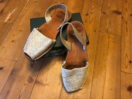 Sandales à lanière argenté-brun