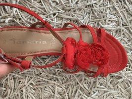 Tamaris Comfortabele sandalen rood