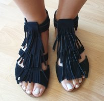 Roman Sandals black leather