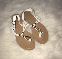 Toe-Post sandals white-gold-colored