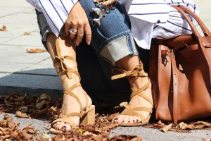 Gianvito rossi Strapped Sandals camel suede