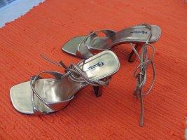 Romonini High Heel Sandal gold-colored leather