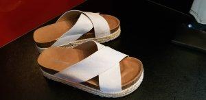 foreverfolie Platform High-Heeled Sandal white