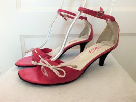 Sandalette Damensandalette Fessel- Riemchen Pink