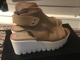 Sandalette Gr. 38 Designer beige