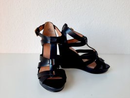 H&M Wedge Sandals black-gold-colored