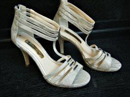 Sandalette High Heels  Reptil- Schlangenlederoptik