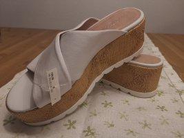 Marc Cain Platform High-Heeled Sandal white leather