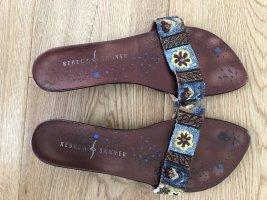 Sandalette mit Pailletten