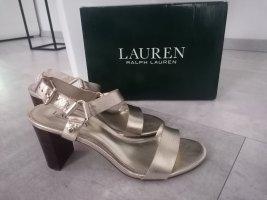 Lauren by Ralph Lauren Sandalen met bandjes en hoge hakken goud