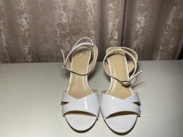 Sandalias de tacón de tiras blanco