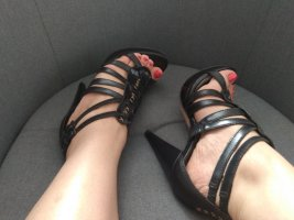 Sandaletten aus echtem Leder Gr. 36