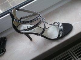 BC Collection Hoge hakken sandalen zwart-zilver