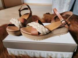 Alberto Venturini Sandalen met bandjes en hoge hakken veelkleurig