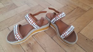 Bruno Premi Platform High-Heeled Sandal light brown