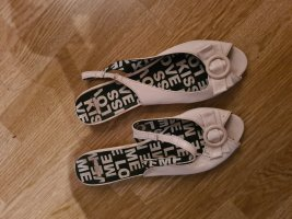 Sandalias tipo clog blanco
