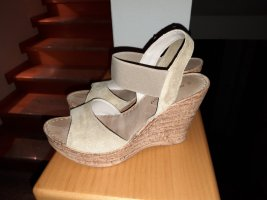 Platform High-Heeled Sandal cream