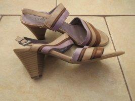 Sandaletten, Gr.37, beige-lila