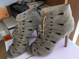 Sandaletten grau/beige , 1 mal getragen