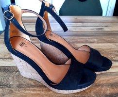 Sandaletten Keilabsatz schwarz Gr.36, H&M