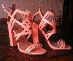 Sandaletten, Little Mistress, rosa, Lackleder, neuwertig! Gr. 38