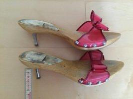 Sandaletten mit Holzsohle und Masche, Größe 38