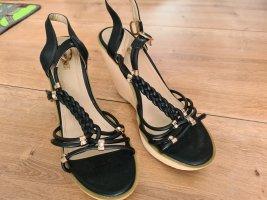 Jumex Platform High-Heeled Sandal black-gold-colored