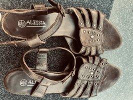 Alessia Sandały z rzemykami czarno-brązowy