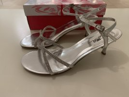 High Heel Sandal silver-colored
