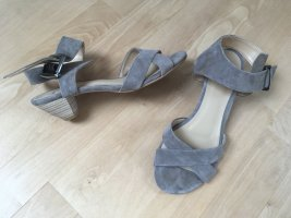 b.c. Strapped High-Heeled Sandals grey brown