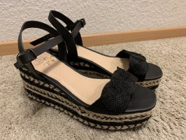 Ovyé Sandały na grubym obcasie czarny-beżowy