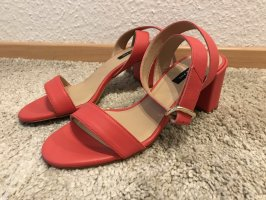 Patrizia Pepe Strapped High-Heeled Sandals bright red