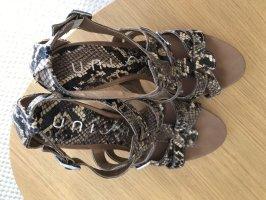 Sandaletten von Unisa in Schlangenlederoptik