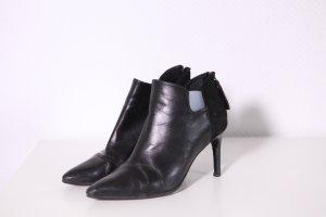 Sandro Peep Toe Booties black leather