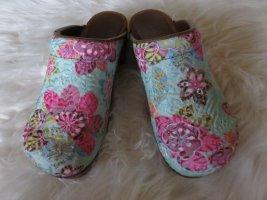 Sanita Heel Pantolettes multicolored wood