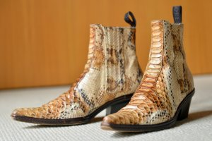 Sartore Western Booties multicolored leather