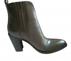Sartore Booties braun-schwarz Business-Look