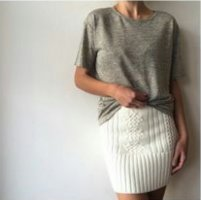 Sass & bide Knitted Skirt natural white