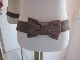 Cintura in tessuto marrone chiaro