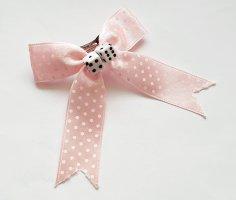 Spilla per capelli rosa-bianco