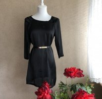 Satin Minikleid in schwarz