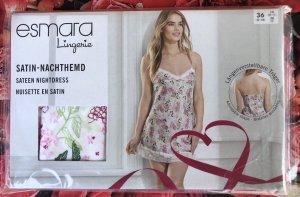 Esmara Camicia da notte bianco-rosa chiaro