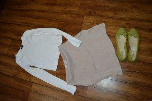 Satin Short Skirt Iva Nikolina x NA-KD, beige 36