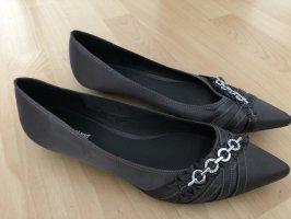 Graceland Ballerina's met kant grijs-bruin-donkergrijs