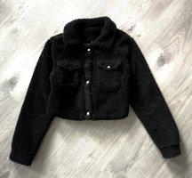 schafsfell jacke croped teddy mantel aus kunst fell