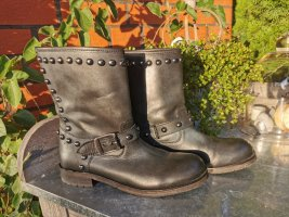 Mango Wide Calf Boots anthracite