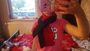 Bufanda de cachemir negro-rojo